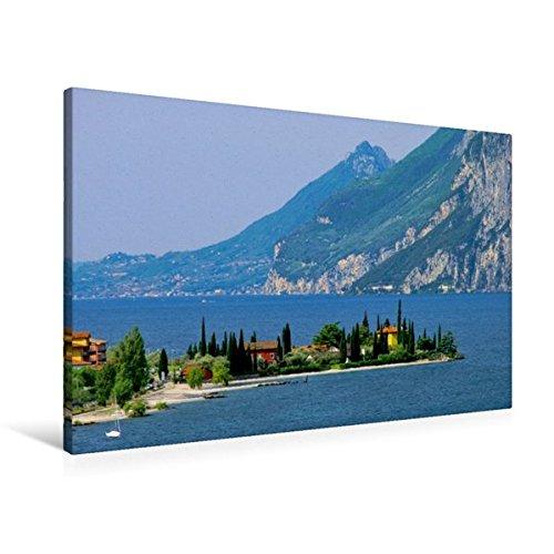 Premium Textil-Leinwand 90 cm x 60 cm quer, Gardasee | Wandbild, Bild auf Keilrahmen, Fertigbild auf echter Leinwand, Leinwanddruck: Venetien (CALVENDO Orte)