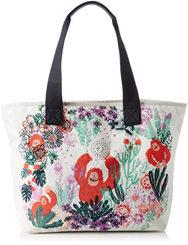 Kipling Womens Congratz Canvas and Beach Tote Bag Multicolour (Congratz Niky)