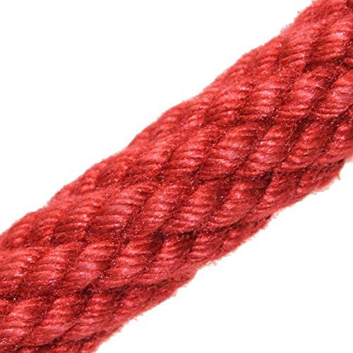Handlaufseil Absperrseil 30 mm Farbe weinrot/dunkel-rot