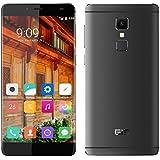 "Elephone S3 - Smartphone libre 4G LTE Android 6 (Pantalla 5.2"", 16GB ROM, 3GB RAM, Octa-Core , Cámara 13.0 Mp, Lector de huellas dactilares, Carga rápida), Gris"