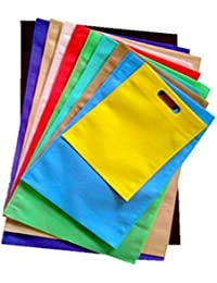 Swadesh Non Woven Carry Bags (D-Cut) Size 14 In X 19 In (Pack Of 50 Bags) Reusable & Heavy Quality