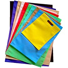 Swadesh Non Woven D-Cut Reusable Carry Bags, 16x21-inch (NW/1621/025) - Pack of 25 Bags