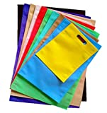 Swadesh Non Woven Carry Bags (D-Cut) Size 16 in x 21 in (Pack of 25 Bags) Reusable & Heavy Quality