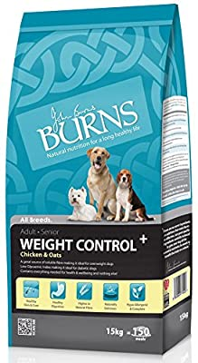 Burns weight control+ loss light adult dog food senior chicken & oats all sizes by Burns