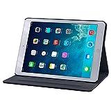 Gecko Covers - Apple iPad Air Easy-Click Cover - Schwarz - Multifunktionelle Tasche bietet Schutz und Multimedia-Komfort/Cover mit Präsentationsfunktion - Tablethülle Geeignet für Apple iPad Air