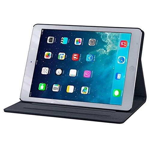Gecko Covers - Apple iPad Air Easy-click Cover - Schwarz - Multifunktionelle Tasche bietet Schutz und Multimedia-Komfort / Cover mit Präsentationsfunktion - Tablethülle geeignet für Apple iPad Air - Multimedia-tasche