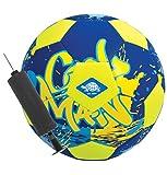 Schildkröt Neopren BEACH-SOCCERBALL, Ø21cm, normale Größe 5, incl. Mini-Pumpe, Fussball, blau-gelb, griffige textile Oberfläche, salzwasserfest, ideal für Stand & Garten, 970288