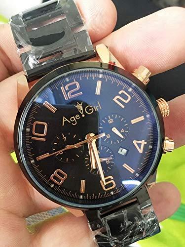 WDXDP Uhr Luxusmarke Neue Automatische Mechanische Uhren Herrenuhr Zeit Silber Rose Gold Sport Edelstahl Walker Herrenuhren Glass BackGold (Titan-walker)