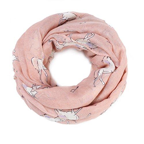 ZQY Damen Loop Schal Schlauchschal Halstuch mit Unicorn Einhorn Muster Design