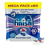 Finish Pastiglie Lavastoviglie Quantum Max, Regular, 60 Tabs