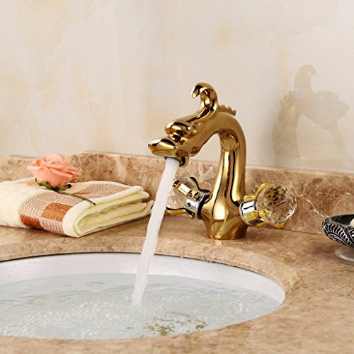 die antike kupfer einzigen loch großen waschbecken becken leitungswasser mischen ventil,goldene