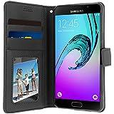 Housse, Etui portefeuille à interieur Silicone gel Incassable pour Samsung Galaxy A3 2016 - Noir