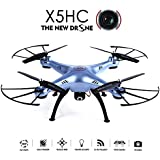 YSILE X5HC 2.0MP HD Camera RC Quadcopter Drone with 4GB SD Card (X5HC Blue)