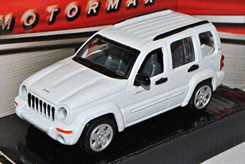 jeep-liberty-cherokee-kj-2001-2008-weiss-1-43-motormax-modell-auto-mit-individiuellem-wunschkennzeic