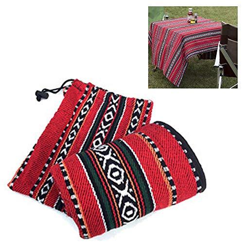 KOBWA Extra große Picknick-Decke mit Tragetasche aus Segeltuch, Faltbare Picknick-Decke, waschbar, Decke und Tischdecke für Camping, Reisen, Wandern und Strand, 140 x 110 cm rot