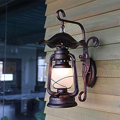 Hyun times American Countryside Channel Lampe murale Antique Horse Lamp Old Garden Corridor Rétro lampe murale décorative