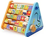 #7: FunBlast™ Creative Wooden Activity Triangle, 5 in 1 Learning Educational Wooden Beads Toddler Abacus for kids Kids and Toddlers,Educational Toy