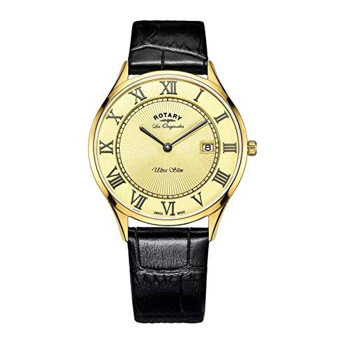 Mens Rotary Swiss Made Ultra Slim Quartz Watch GS90803/03