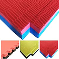 Tatami 40mm x 1m x 1m–Marial Art/Judo/Mma Tappetino double-face, colore: blu/rosso