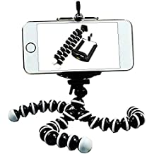Newnet Trípode para teléfono móvil Mini Universal Octopus Soporte para trípode flexible portátil y ajustable