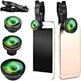 HITSAN 5 In 1 198 Fisheye 0.6x Wide Angle 15x Macro 12x Lens CPL Polarizer For Smartphone One Piece