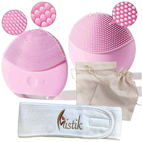 Cepillo de limpieza facial de silicona,  masajeador facial y dispositivo de cuidado de la piel antienvejecimiento para todos los tipos de piel