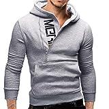 Sweatshirt Sale, SANFASHION Mode Patchwork Langarm Männer Pullover Sweatshirt Mantel Stand Kragen Pullover Outwear 100% Baumwolle Volle Größe Outwear