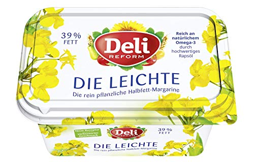 Deli Reform Die Leichte - Pflanzliche Halbfett - Margarine 500g, 8er Pack