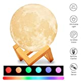 Lámpara de Luna Llena de 16 Colores, Elecstars LED Lámpara de Escritorio de Control Remoto de...