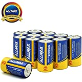 Allmax All-Powerful Alkaline Batteries-Size C, 1.5V Dry Cell, Corrugated Cardboard Boxes Storage Packaging