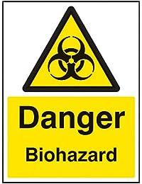 Nouvelle-Calédonie Signes 14536K Biohazard Danger Sign, 400mm x 300mm, plastique rigide