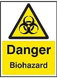 Caledonia Schilder 24536e Gefahr Biohazard Zeichen, selbstklebendes Vinyl, 200mm x 150mm