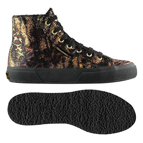 Superga 2795-Paiwanimals, Sneaker, Donna Black-Gold