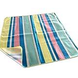 JEMIDI Picknickdecke XXL 180cm x 180cm mit Streifen Schwimmbaddecke Campingdecke Decke Picknick