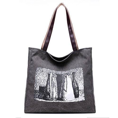 Borsetta da donna,singola spalla /borsa di tela-marrone grigio