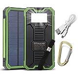 Solar-Ladegerät, Power-Bank, Solarpanel, dualer USB-Port, Tragbar, externe Ersatz-Power-Bank für iPhone, Samsung, Tablet, iPad