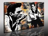 Kunstdruck Johnny Cash bilder , Leinwandbild fertig auf Keilrahmen / Leinwandbilder, Wandbilder, Poster, Pop Art Gemälde, Kunst - Deko Bilder
