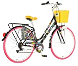 breluxx 28 Zoll Damenfahrrad Venera Fashion Paradise Citybike Korb + Licht Retro Damenrad, 6 Gang Shimano
