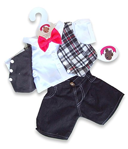 Red Bow Tie Outfit teddy Bear clothes fit build a bear factory
