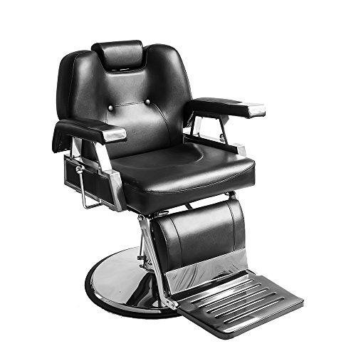 Poltrona da barbiere, classica idraulica, reclinabile, per parrucchiere, professionale, con taglio di capelli, regolabile in altezza, in pelle pu