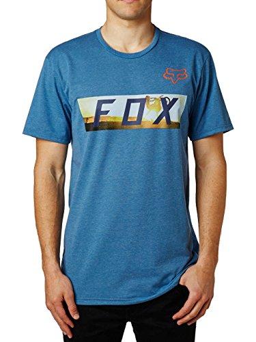 Fox Tech T-Shirt Ghostburn Heather Blue
