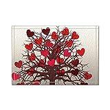AQYYSH Tappeto da bagno cuore rosso su tronco marrone, tappeti da bagno amicizia tappetini antiscivolo ingressi da esterno per interni, tappetino da bagno 60x40 cm