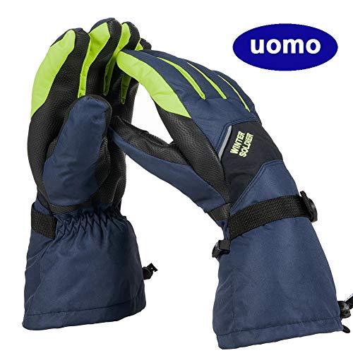 Jteng guanti da sci uomo,donna impermeabili termico anti-scivolo termico anti-scivolo guanti per sci, snowboard, ciclismo, arrampicata