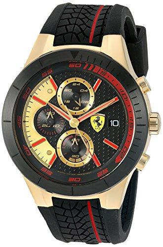 Scuderia Ferrari 0830298 - Reloj de pulsera hombre, Silicona, color Negro