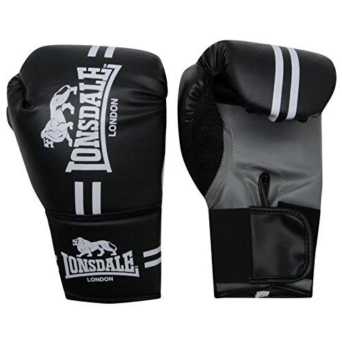 Lonsdale Unisex Contender Boxen Handschuhe Schwarz L/XL