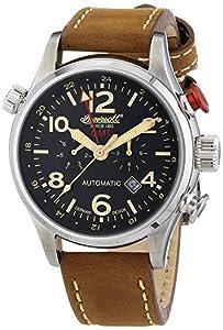 Ingersoll Lawrence - Reloj automático para hombre, correa de cuero color marrón de Ingersoll
