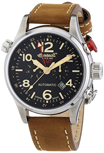 Ingersoll - IN3218BK - Montre Homme - Automatique - Chronographe - Bracelet Cuir Marron