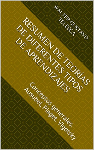 Colección Cuadernillos docentes V6- Resumen de teorías de diferentes tipos de aprendizaje: Conceptos generales