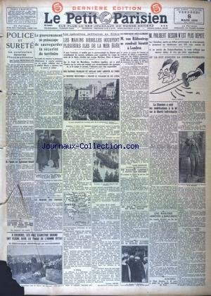 PETIT PARISIEN DERNIERE EDITION (LE) [No 21149] du 24/01/1935