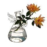 Rosepoem Terrarium Pflanzen Hängen Glas Engel Form Pflanze Kleiderbügel Air Plant Halter Container Terrarien Aus Glas Für Blumen Pflanzen Hausgarten Wanddekor